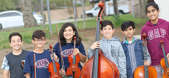 Yorba Linda Middle School Instrumental Music Students